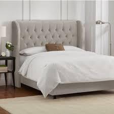 skyline velvet light grey bed king 4 pcs