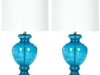 Safavieh Morocco Blue Glass Table lamp   Morocco Blue  Set of 2