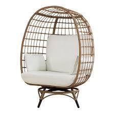 egg cuddle chair light brown