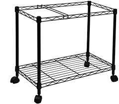 three tier rolling file cart black metal