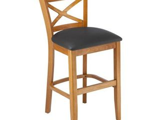 X back Upholstered Seat Counter Stool  Retail 156 49 black