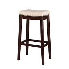Copper Grove Willamette Backless Counter Stool brown and cream seat