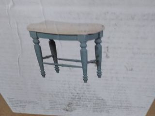 limon backless counter stool sky blue and cream seat