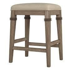 The Gray Barn Chatterly Backless Non swivel Counter Stool   18 5 W x 15 75 l x 25 25 H  Retail 108 49 distressed grey and acru fabric