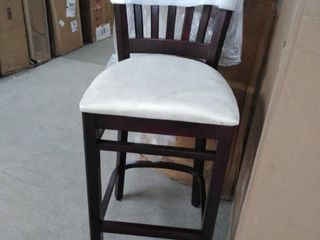 bar stool brown and light brown swide leather seat