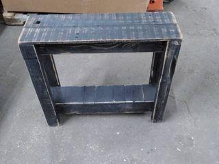 barn wood shelf brushed black