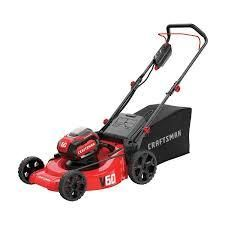 craftsman lawn mower 60 volt 1 battery and bag with charger