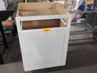 white base cabinet no draw 24 inch