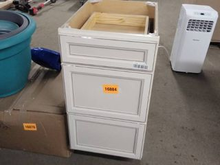 white base cabinet with trim 18 inch