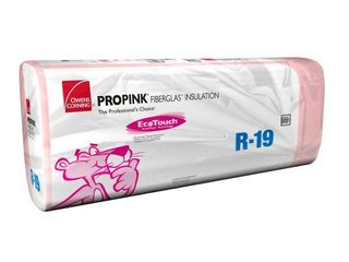 R 19 EcoTouch PINK Metal Framed Foil Faced Fiberglass Insulation Batt 24 in  x 96 in   5 Bags   481 00