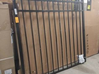 black metal fence piece with hardware 59w x 5 ft tall