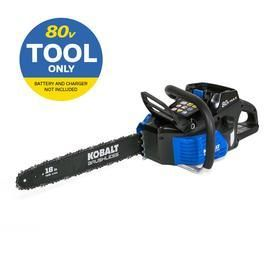 Kobalt 80 volt lithium Ion 18 in Brushless Cordless Electric Chainsaw  Battery Not Included