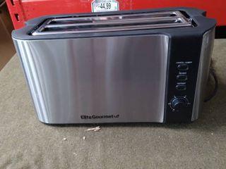 Elite Gourmet 4 Slice Stainless Steel long Toaster