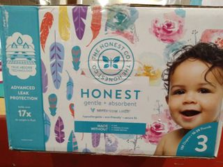 Honest Co Baby Diapers Size3 Count136 Trueabsorb Rose   Feather Value Pack