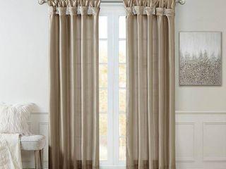 Home Essence lillian Twist Tab lined Window Curtain Pair