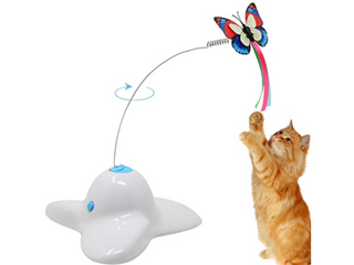Elite   Electronic Rotating Butterfly Cat Toy