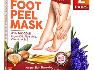 Golden Feet   Exfoliating Foot Peel Mask   2 Pair