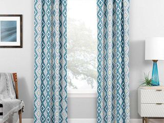 84 x37  Morrow Rod Pocket Thermaweave Blackout Curtain Panel Teal Pair   Eclipse