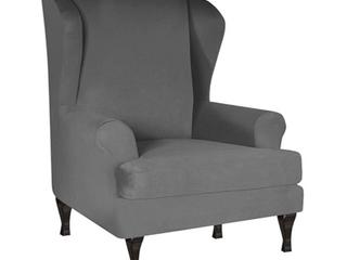 Velvet Wing Chair Cover