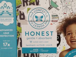 The Honest Co  Gentle   Absorbent  Super Soft liner  Hypoallergenic  Eco Friendly  Secure Fit
