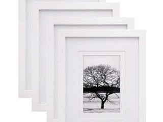 Egofine Set of Four 8  x 10  Picture Frames with Border Insert   Oak Color Frame