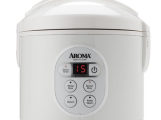 AROMA   4 Cup Rice Cooker   White