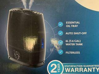 Everlasting Comfort   Ultrasonic Humidifier   Black