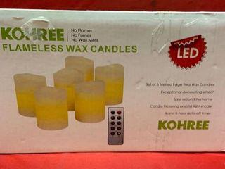 Kohree Frameless Wax Candles   Soft White