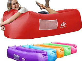 Wekapo Inflatable lounger Air Sofa Hammock Portable Water Proof  Anti Air leaking Design Ideal Couch for Backyard lakeside Beach Traveling Camping Picnics   Music Festivals Camping Compression Sacks