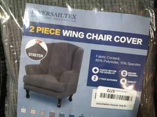 2 Piece Wing Chair Cover