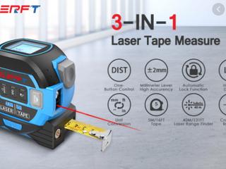 Slerft   3 in 1 Digital Display laser Tape Measure   Steel   40m 5m