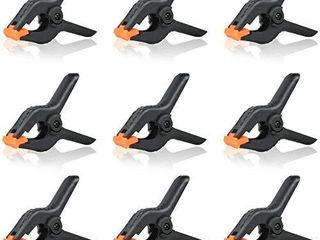 NIECHO 9 Pack 4 5 inch Heavy Duty Spring Clamps Muslin Backdrop Background Clips for Photography Studio