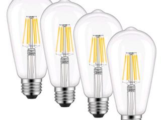 Kohree   6W lED Dimmable Vintage Filament  Edison  light Bulbs