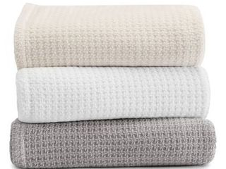 Tommy Bahama Bahama Coast Cotton Blanket  Size Queen   White