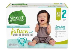 Seventh Generation Sensitive Protection Diapers Super Pack   Size 2   80ct