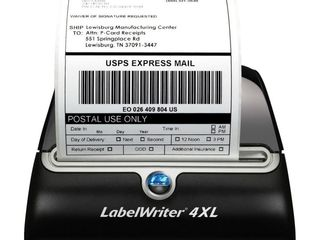 Dymo labelWriter 4Xl  4  labels  53 labels Minute  7w x 7 3 10d x 5 3 10h