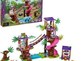 lEGO Friends Jungle Rescue Base Animal Toy Featuring a Jungle Tree Sanctuary 41424