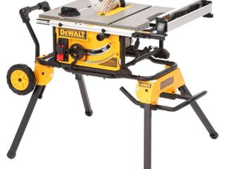 DEWAlT 10 Inch Jobsite Table Saw with 32 1 2 Inch Rip Capacity and Rolling Stand