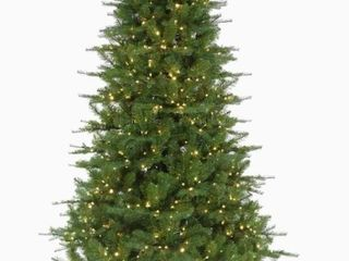 Holiday living 7 5 ft Spruce Pre lit Artificial Christmas Tree with 700 Multi Function Multicolor Warm White lED lights