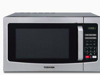 Toshiba Microwave 1 1 cu ft 1000 Watt Countertop Microwave  Stainless Steel  19x13 5Dx12 5T