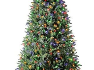 Holiday living 7 5 ft Fairbanks Pine Pre lit Traditional Artificial Christmas Tree with 600 Multi function Color Changing lED lights