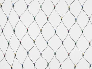 150ct 4  x 6  Incandescent Mini Net lights with Green Wire Multicolor   Wondershop