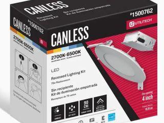 3 Utilitech Canless High Output Color Choice 75 watt 2700k  6500l Adjustable