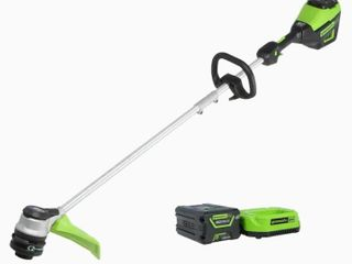 Greenworks Pro 60v Max 16 in  Straight Cordless String Trimmer with Battery