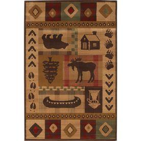 Mohawk Home Westland Dark Brown Rectangular Brown Transitional Woven Area Rug