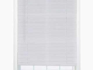 Project Source 1 Inch Cordless Vinyl Mini Blinds White 36x64