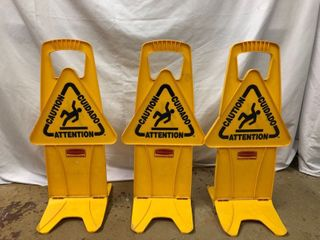 Caution Pop Up Signs   3 Pack