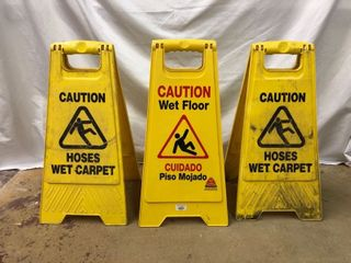 Caution Signs   3 Pack