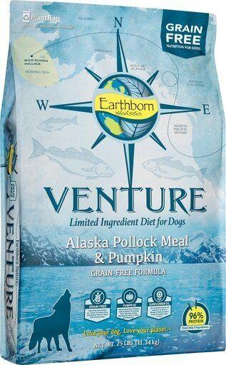 Venture Grain Free limited Ingredients Alaska Pollock   Pumpkin Dry Dog Food  25 lb
