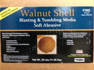 3 Pounds Of Fine 24 Grit Walnut Shell Blasting   Tumbling Media   For Brass Ammo